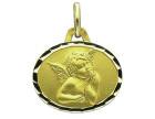 Médaille Ovale Or Jaune 750 millièmes - Ange de Raphaël - Création AUGIS