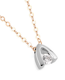 Collier TRAAMA - Or blanc, or jaune & Diamant - Création CLOZEAU