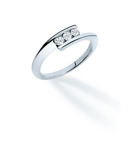 Bague ENVOL Trilogy - Or blanc & Diamant - Création GAREL