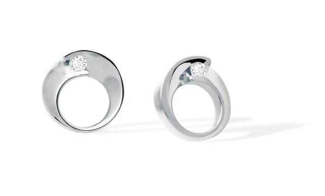Boucles d'oreille ENVOL - Or blanc & Diamant - Création GAREL