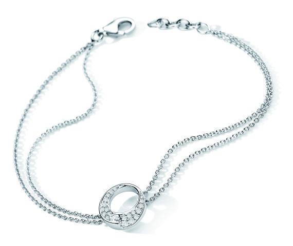Bracelet ENVOL Pavage - Or blanc & Diamant - Création GAREL
