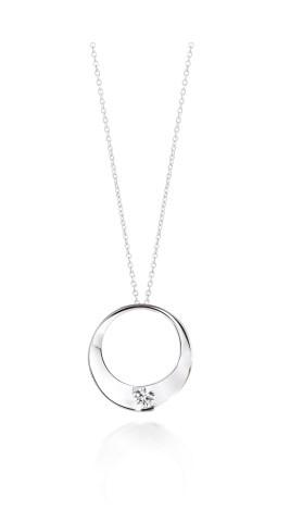 Collier ENVOL - Or blanc & Diamant - Création GAREL