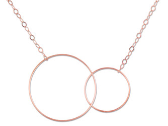 Collier CERCLES - Or rose - Création GINETTE NY
