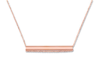 Collier STRAW - Or rose - Création GINETTE NY