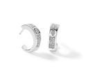 Boucles d'oreille GRAPHIQUE Pavage - Or blanc & Diamant - Création GAREL