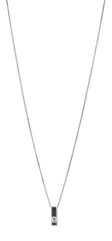 Collier GRAPHIQUE - Or blanc & Diamant noir et blanc - Création GAREL