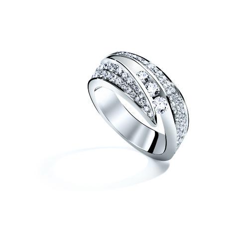 Bague NEIMA Pavage - Or blanc & Diamant - Création GAREL
