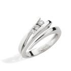 Bague NEIMA Trilogy - Or blanc & Diamant - Création GAREL