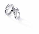 Boucles d'oreille NEIMA Trilogy - Or blanc & Diamant - Création GAREL