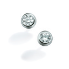 Boucles d'oreille ONLY DIAMOND - Or blanc & Diamant - Création GAREL