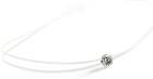 Collier ONLY DIAMOND sur fil transparent - Or blanc & Diamant - Création GAREL