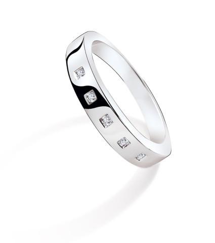 Alliance TARA - Or blanc & Diamant - Création GAREL