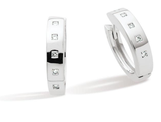 Boucles d'oreille TARA - Or blanc & Diamant - Création GAREL