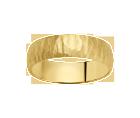 Alliance Demi-Bombée Or Jaune Satiné 750 millièmes. Existe dans plusieurs couleurs d'or et dans plusieurs largeurs