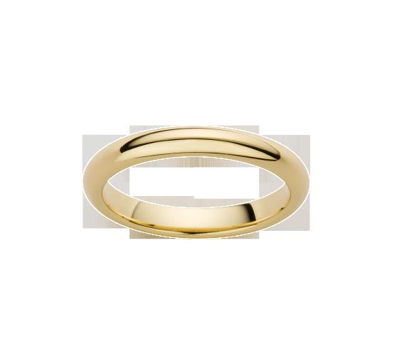Alliance Demi-Jonc Or Jaune Satiné 750 millièmes. Existe dans plusieurs couleurs d'or et dans plusieurs largeurs
