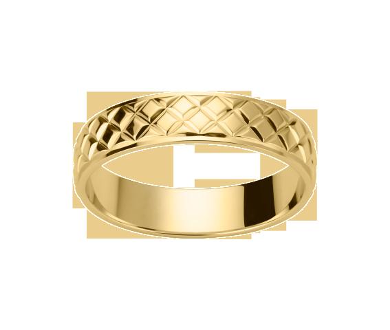 Alliance Or Jaune Losanges 750 millièmes. Existe en plusieurs largeurs et dans d'autres couleurs d'or.