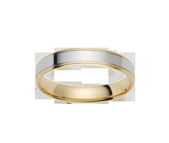 Alliance Or Blanc & Or Jaune 750 millièmes. Existe en plusieurs largeurs et dans d'autres couleurs d'or.