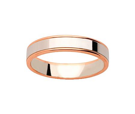 Alliance Or Blanc & Or Rose 750 millièmes. Existe en plusieurs largeurs et dans d'autres couleurs d'or.
