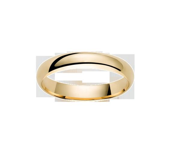 Alliance Demi-Jonc Or Jaune 750 millièmes. Existe dans plusieurs couleurs d'or et dans plusieurs largeurs