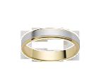 Alliance Or Blanc et Or Jaune 750 millièmes. Bords polis, centre satiné. Existe en plusieurs largeurs et dans d'autres couleurs d'or.